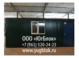 Дача 6х2,4м   зеленый цвет