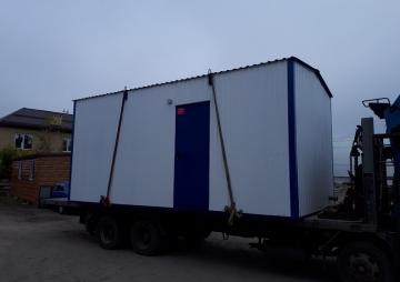 Блок-контейнер погрузка
