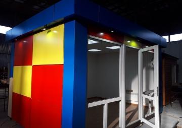 Цветной торговый павильон композит
