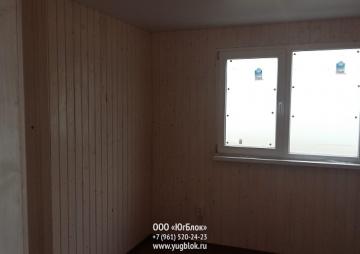 Дачный дом 9х6м окно