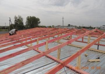 Крыша на стадии укладки