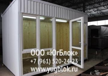 Киоск с открытой дверью