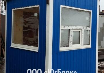 Пост охраны на 2 окна угол